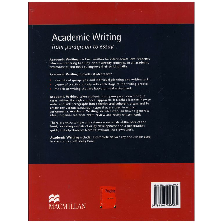 Academic Writing From Paragraph to Essay