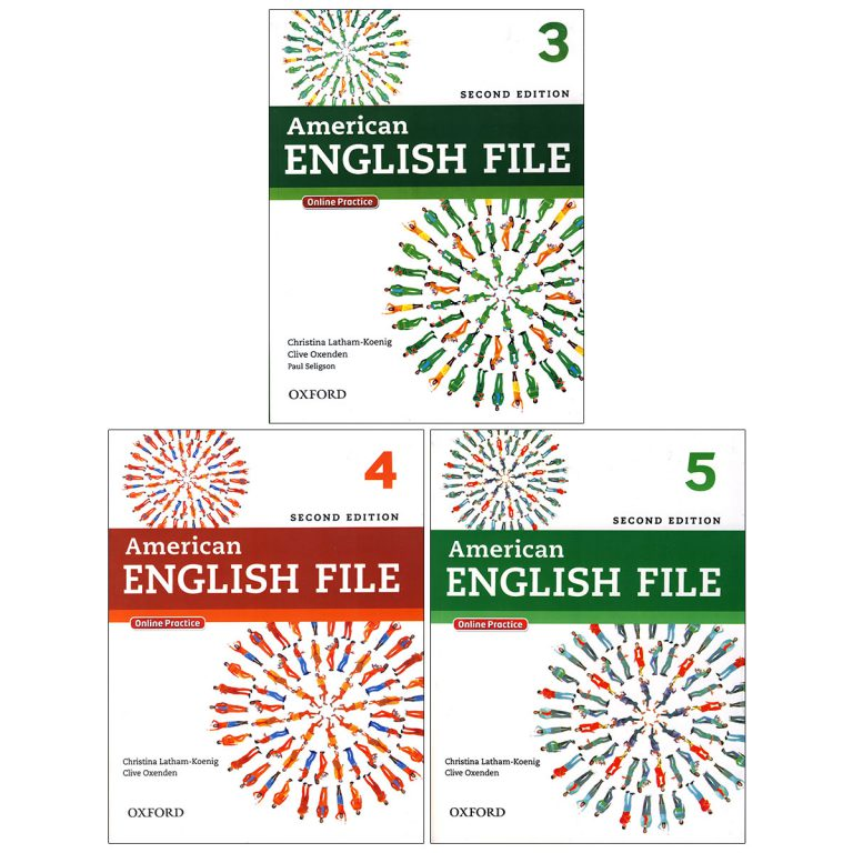 American English File Books 3-4-5