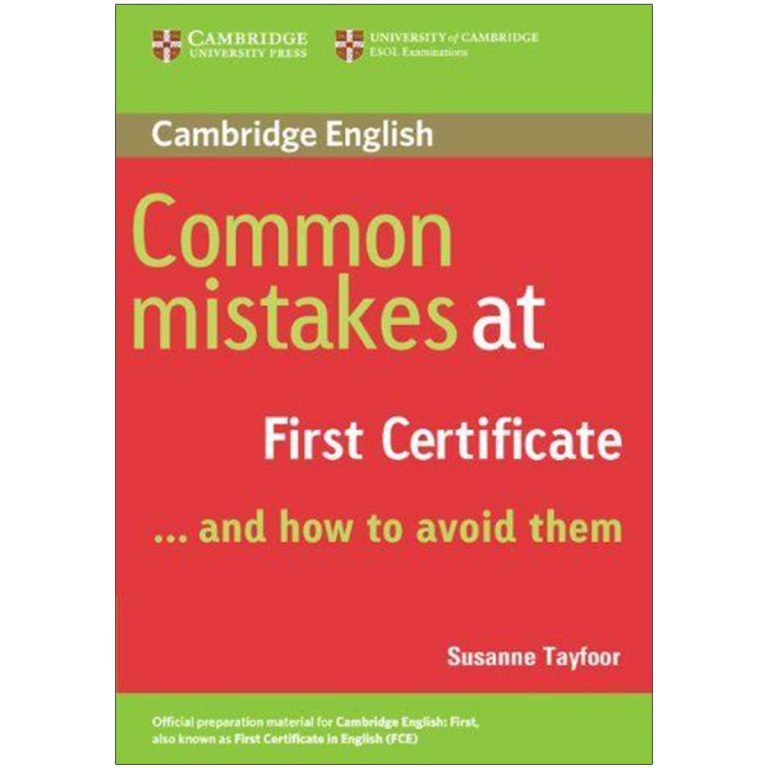Common mistakes in first certificate