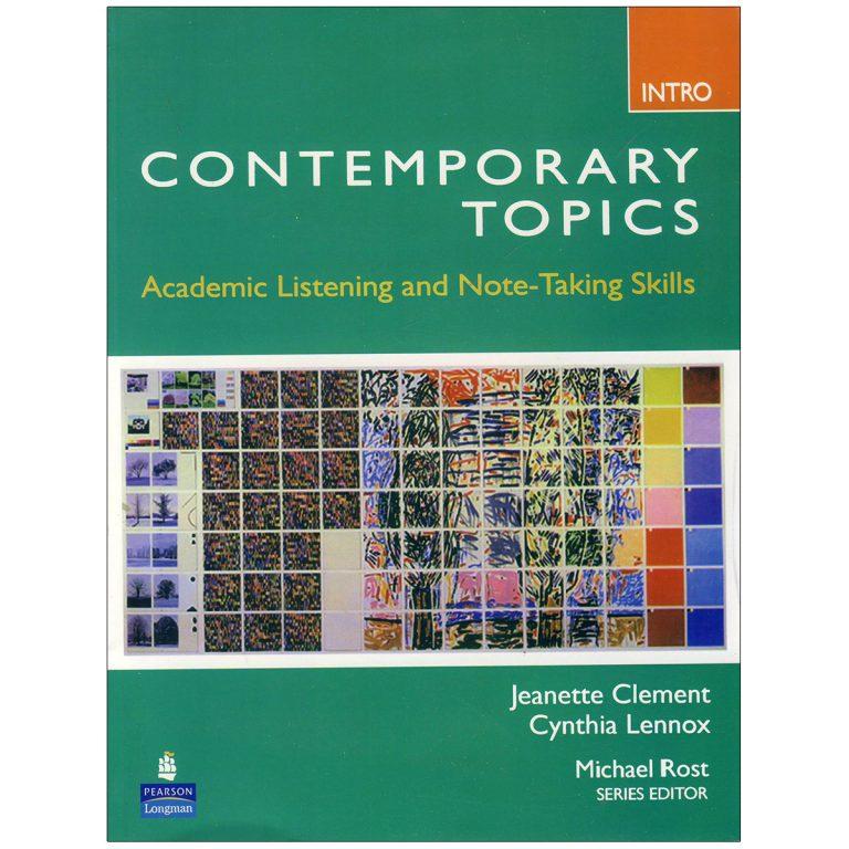 Contemporary Topics Intro