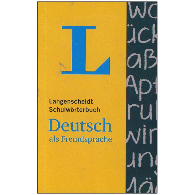 دیکشنری آلمانی ب آلمانی لانگنشاید Langenscheidt Schulworterbuch Deutsch als Fremdparche
