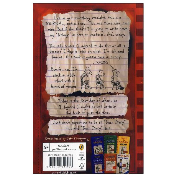 Diary-of-a-Wimpy-kid-a-novel-in-cartoon-back