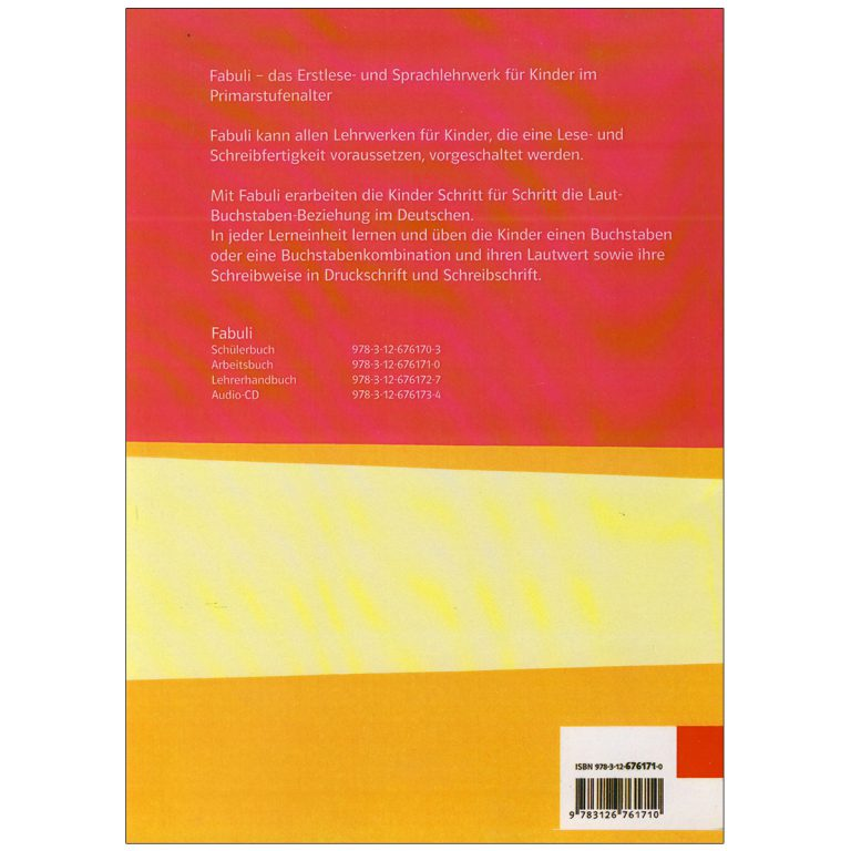 Fabuli Arbeitsbuch Schuelerbuch