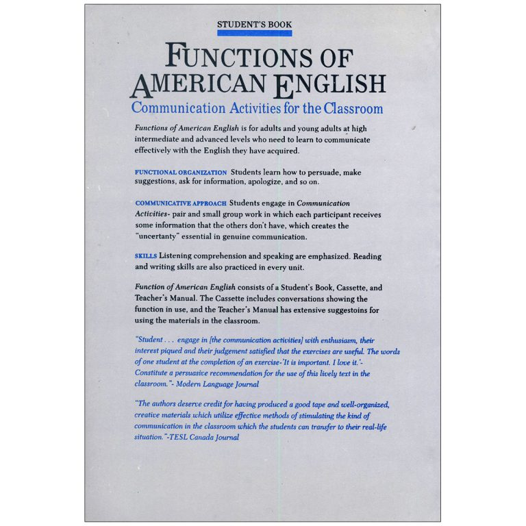Functions of American English