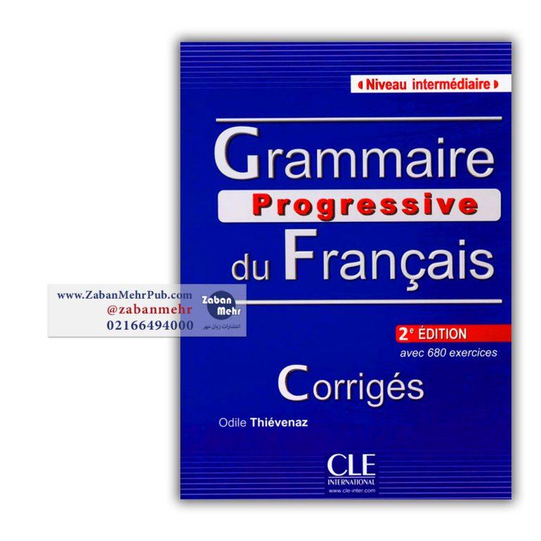 Grammaire progressive du Francias niveau intermediaire