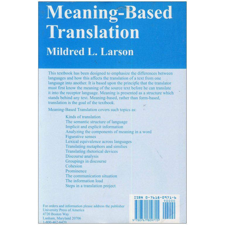 Meaning Based Translation