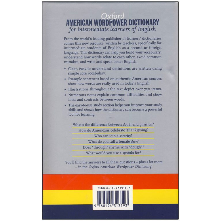 Oxford American Wordpower Dictionary