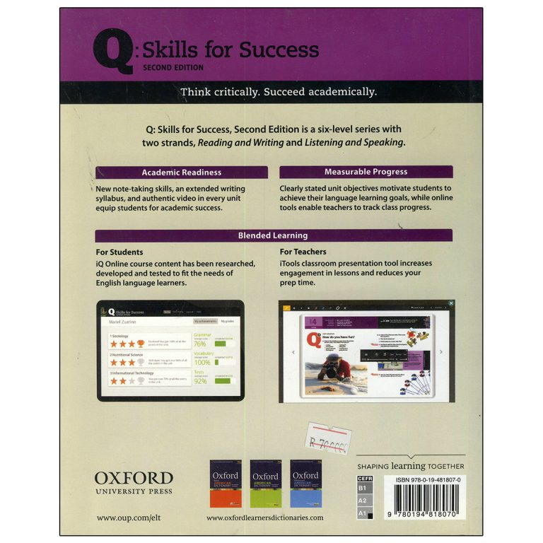 کتاب Q Skills for Success Intro Listening and Speaking Second Edition