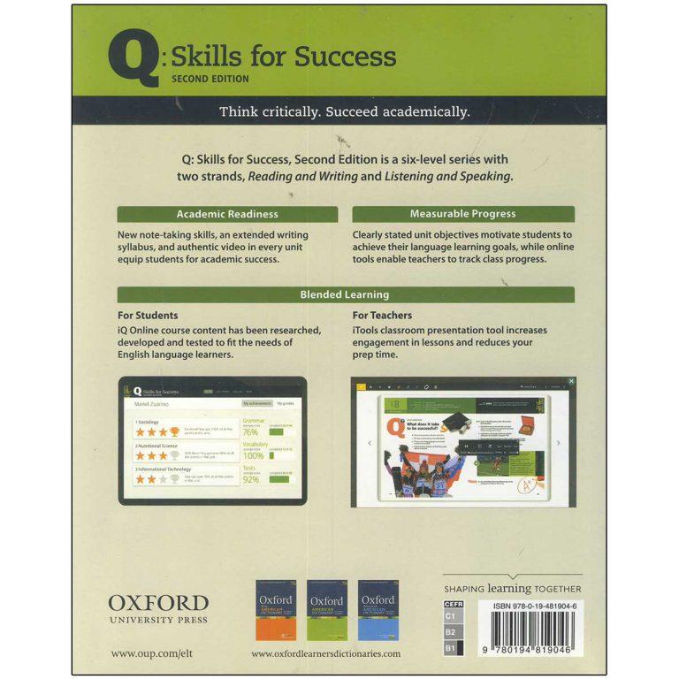 کتاب Q Skills for Success 3 Listening and Speaking Second Edition