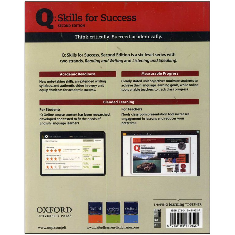 کتاب Q Skills for Success 5 Listening and Speaking Second Edition