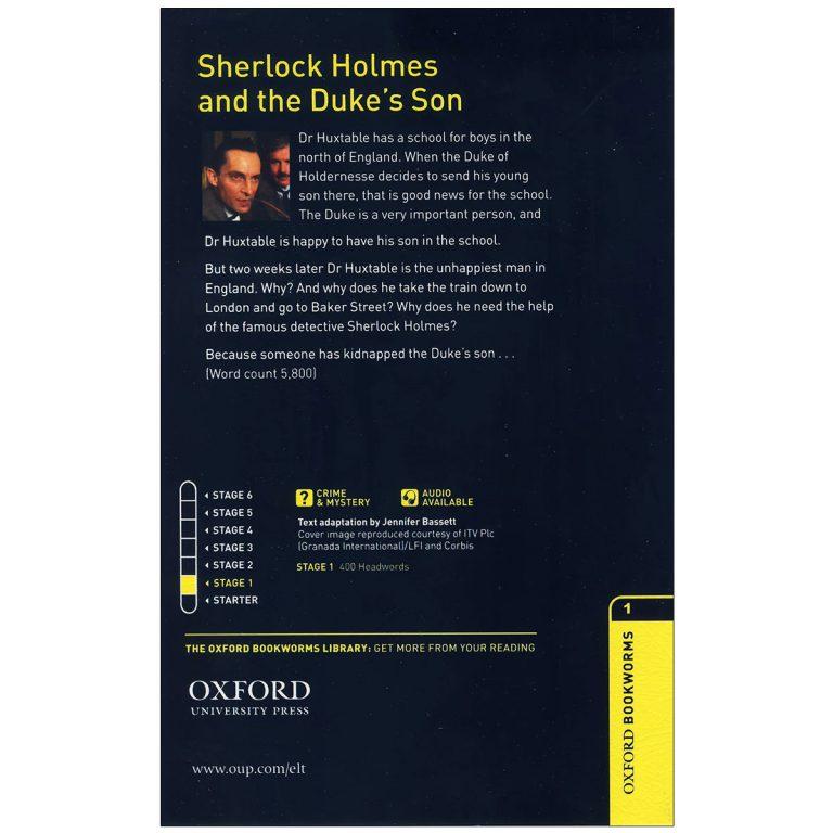 کتاب داستان دوزبانه شرلوک هولمز و پسر دوک Sherlock Holmes and The Dukes Son