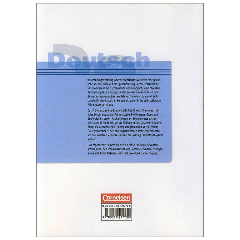 Deutsch Prufungstraining Goethe Zertifikat A2