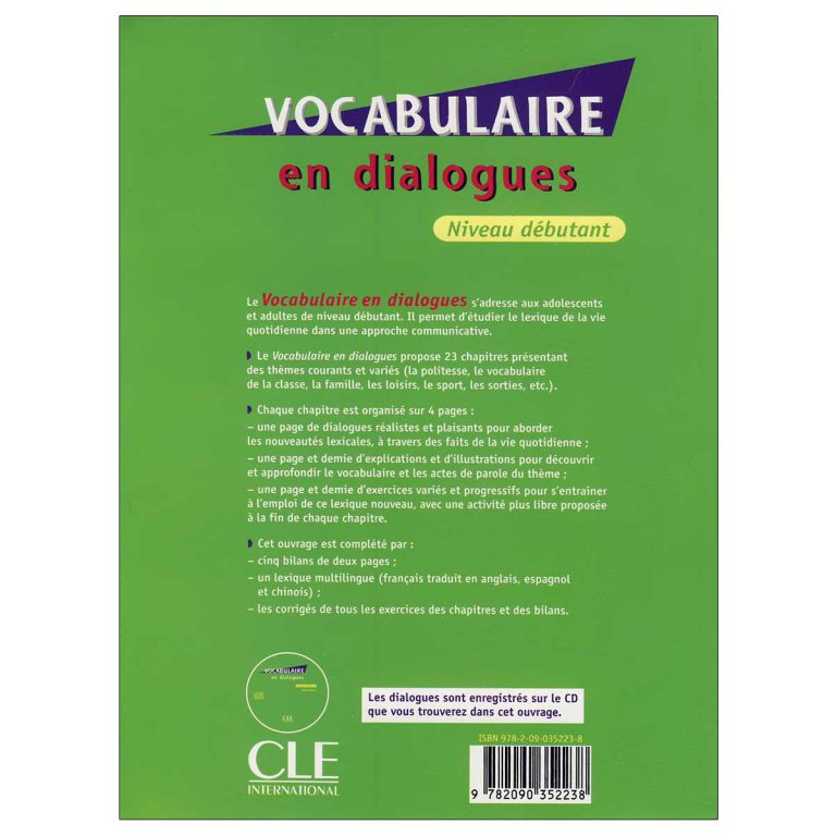 Vocabulaire en dialogues niveau debutant